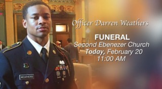 Funeral today for fallen DPD officer Weathers