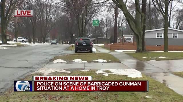 Police on scene of barricaded gunman in Troy