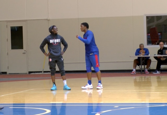 Jackson working to get back with Pistons