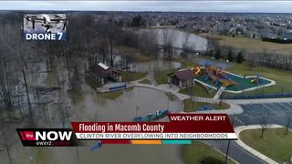 Clinton River flooding in Macomb Co.