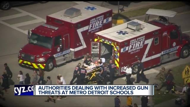 Authorities dealing with increased gun threats at metro Detroit schools