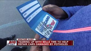 Belle Tire helps drivers with pothole problems