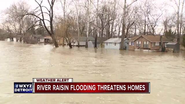 Monroe County residents worry over flooding as the River Raisin rises