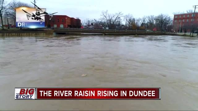 M-50 bridge is closed as the River Raisin continues to rise in Dundee