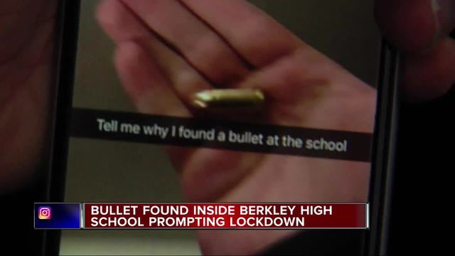 9mm bullet found at Berkley High School- lockdown lifted after sweep