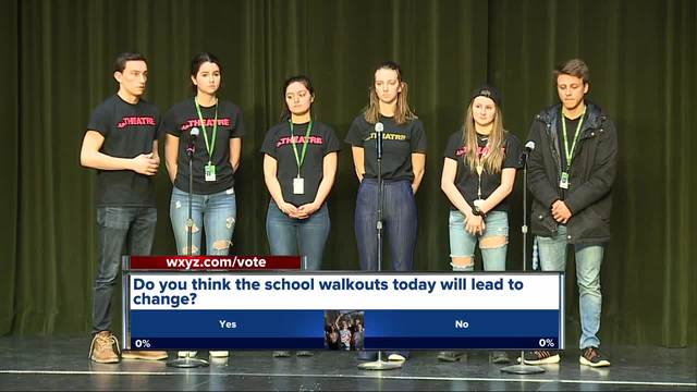 Local schools pay tribute to Florida shooting victims