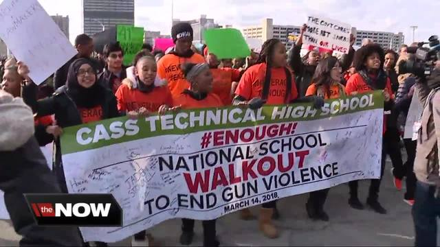 North Olmsted City School students active in national walkout events