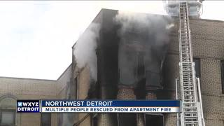 Fire at apartment building in Northwest Detroit