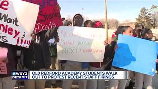 Students walk out in protest of alleged firings