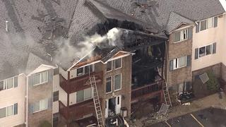 Fire at apartment complex in Wayne