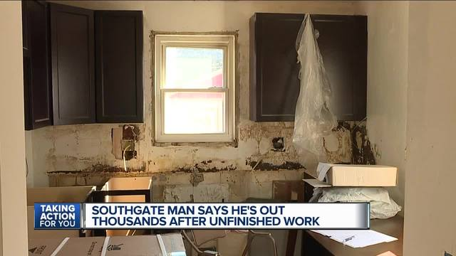Southgate man says he-s out thousands after unfinished work