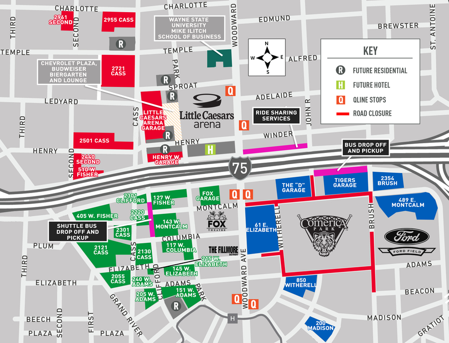 Detroit Tigers 2018 Opening Day Parking And Traffic