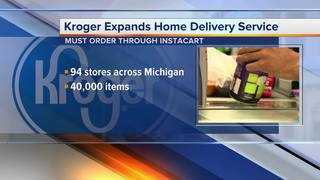 Kroger expanding home delivery service in MI