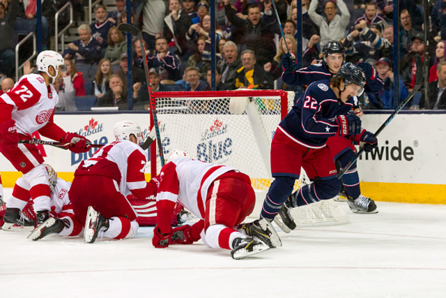 Blue Jackets beat Red Wings to bolster playoff hunt