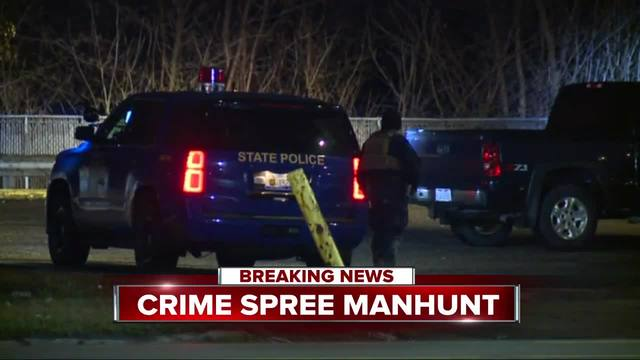 Manhunt for armed carjacking and shooting suspect near Gratiot and Outer Drive