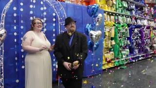 Metro Detroit couple gets married at Party City