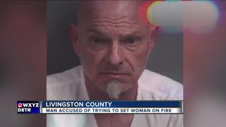 Husband allegedly douses wife with gasoline