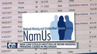 New law aims at solving missing persons cases