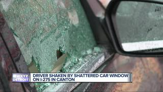 Man believes rock was thrown at his car on I-275