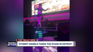 Stormy Daniels performs at Detroit club
