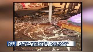 Disabled man's home floods with feces, urine
