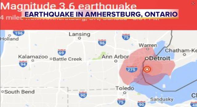 3.6 magnitude earthquake rattles metro Detroit