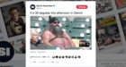 Shirtless Tigers fan goes viral in cold weather