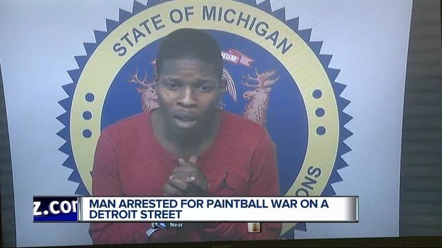 Man faces charges after officer's vehicle splattered with paint