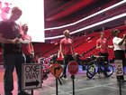 Red Wings surprise DPS students with new bikes