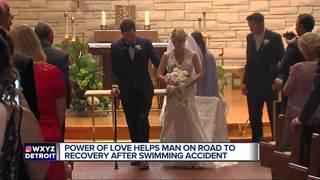 Paralyzed Man walks down aisle on wedding day