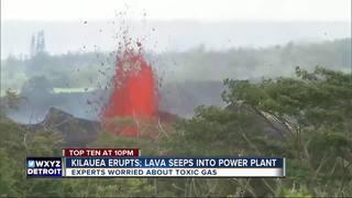 Workers plug energy wells near Kilauea lava