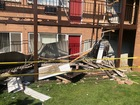 Walkway collapses at apartment complex