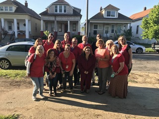 Wear Red for Ed campaign in Hamtramck