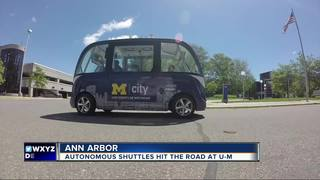 Driverless shuttles introduced at U of M