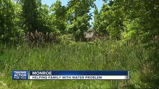 Family faces drainage, mosquito nightmare