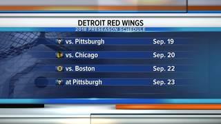 Red Wings unveil 2018 preseason schedule
