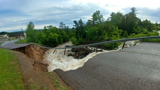 Flash flooding washes out roads in U.P.