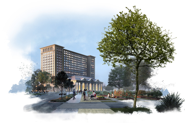 Ford 39 S Corktown Train Station Plans Include 1 2m Sq Ft Of Housing Retail Office Space