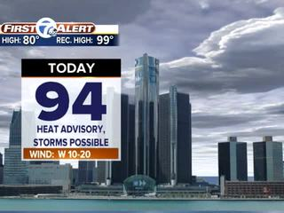 FORECAST: Still hot today but rain is on the way
