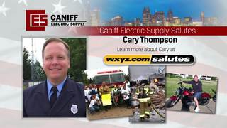 Caniff salutes a veteran firefighter