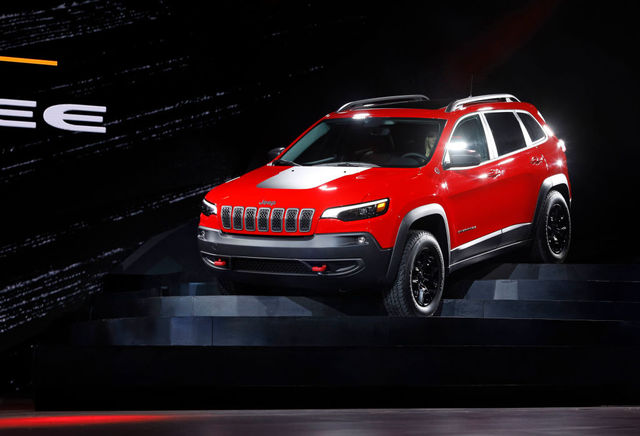 DETROIT, MI JANUARY 16: The New 2019 Jeep Cherokee Makes Its Debut At The  2018 North American International Auto Show January 16, 2018 In Detroit,  Michigan.