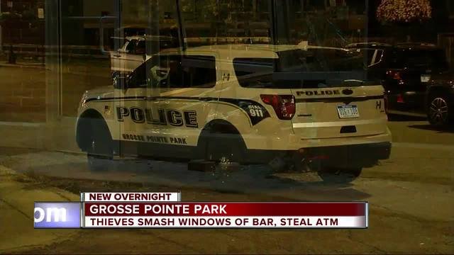 Police looking for suspects who drove into pub in Grosse Pointe Park- stole ATM