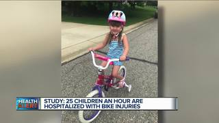 25 US kids treated every hour for bike injuries