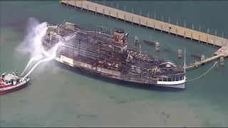 Photo gallery: Aftermath of fire on Boblo boat