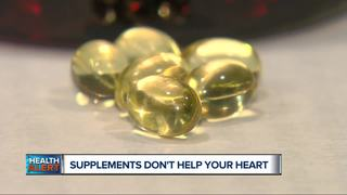 Study: Supplements don't lower heart risk