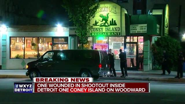 1 hurt in shootout inside Detroit Coney Island