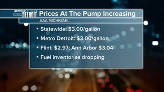 Gas prices up 11 cents in Michigan this week