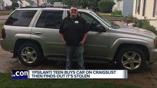 Teen out thousands after buying stolen car