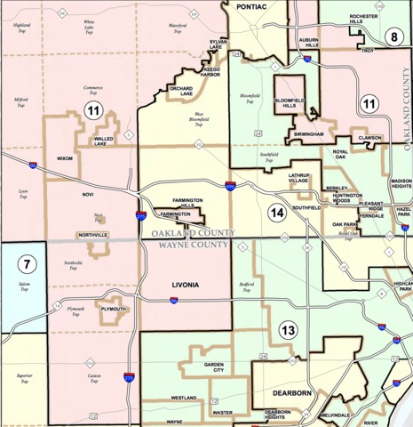 Here\'s a look at Michigan\'s gerrymandered congressional districts ...