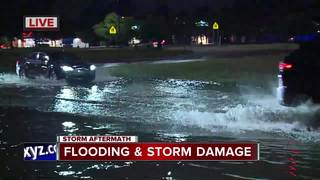 Several roads closed due to flooding